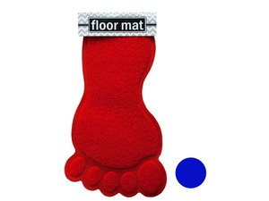 Foot Shaped Absorbent Non-Slip Bath Mat (case Of 24)
