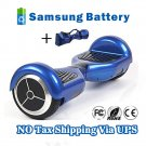 Self Balancing 2 Wheels Hover Board Electric Scooter Skateboard Blue