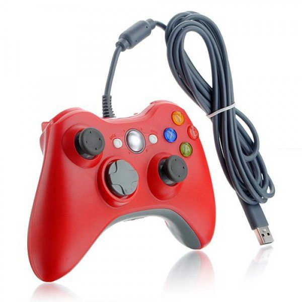 Wired USB Game Pad Controller for Windows & Xbox 360 Console - Red
