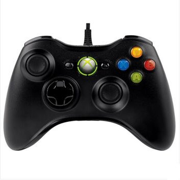 Wired USB Game Pad Controller for Windows & Xbox 360 Console - Black