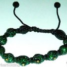 Jamaican National Colors Shamballa Bracelet Green Gold Black