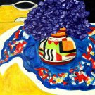 Primary Colors ~ Art Print ~ Clarice Cliff Vase with Hydrangeas Limited Edition