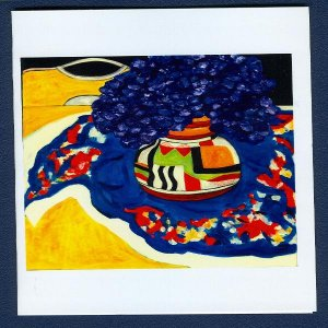 Clarice Cliff Primary Colors ~ Floral Art Notecards
