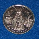 TENCENNIAL AUTHENTIC NEW ORLEANS MARDI GRAS DOUBLOON TOKEN COIN 10TH ANNIVERSARY