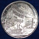 1984 WORLD'S FAIR RIVERBOAT JAZZ PLANTATION HOME NEW ORLEANS MARDI GRAS DOUBLOON