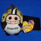 *BRAND NEW NFL TEAM NEW ORLEANS SAINTS TY BEANIE BALLZ PLAYER KEYCHAIN WITH TAGS