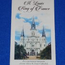 ST. LOUIS CATHEDRAL BROCHURE BASILICA SAINT LOUIS KING OF FRANCE FRENCH QUARTER