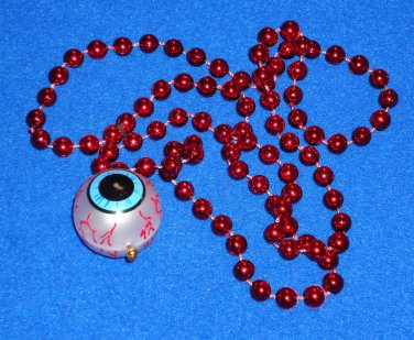 UNIQUE AWESOME AUTHENTIC NEW ORLEANS EYEBALL EMBLEM MARDI GRAS BEAD HALLOWEEN