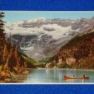 VINTAGE BANFF NATIONAL PARK ALBERTA CANADA POSTCARD LAKE LOUISE & MOUNT VICTORIA