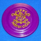 """HAPPY MARDI GRAS"" PURPLE NEW ORLEANS MARDI GRAS FRISBEE FLYING DISC"