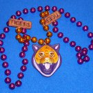 LSU TIGERS NEW ORLEANS MARDI GRAS BEAD GEAUX TIGERS PURPLE GOLD LOUISIANA STATE