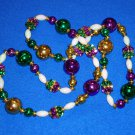 STUNNING DAZZLING MARDI GRAS COLORS AUTHENTIC NEW ORLEANS MARDI GRAS BEAD