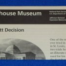 DRED SCOTT DECISION OLD COURTHOUSE BROCHURE JEFFERSON NAT'L EXPANSION MEMORIAL