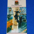 CIVIL WAR TRAIL OFFICIAL GUIDE BATTLE FOR MOBILE BAY ALABAMA UNION BROCHURE