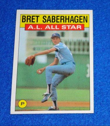 BRET SABERHAGEN TOPPS BASEBALL ALL STAR TRADING CARD KANSAS CITY ROYALS CY YOUNG