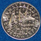 ALPHABET ON PARADE ABC NEW ORLEANS MARDI GRAS DOUBLOON COIN NOLA TOKEN LETTERS