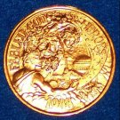 COOL FABLED GODS AND HEROES AUTHENTIC NEW ORLEANS MARDI GRAS DOUBLOON TOKEN COIN