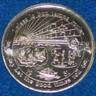 """LAISSEZ LE BON TEMPS ROULER"" AUTHENTIC NEW ORLEANS MARDI GRAS DOUBLOON TOKEN"