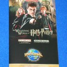 UNIVERSAL STUDIOS ORLANDO PARK MAP BROCHURE HARRY POTTER DIAGON ALLEY HOGSMEADE