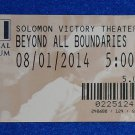 NATIONAL WORLD WAR II MUSEUM BEYOND ALL BOUNDARIES MOVIE TICKET STUB SOUVENIR