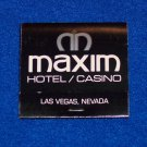*WOW* - RARE NON-EXISTENT MAXIM HOTEL AND CASINO LAS VEGAS NEVADA MATCHBOOK *MUST SEE*