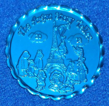 WALT DISNEY TINKERBELL ARIEL MERMAID MARDI GRAS DOUBLOON 3 BEARS EIFFEL TOWER