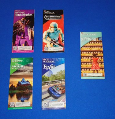 4 BRAND NEW WALT DISNEY ORLANDO PARKS BROCHURES MAGIC KINGDOM + *BONUS* BROCHURE