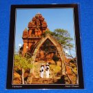 *BRAND NEW* VIETNAM NINH THUAN POSTCARD TWO GIRLS CHAMPA TOWER *FACTORY SEALED*