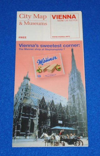 *BRAND NEW* VIENNA AUSTRIA INFORMATIVE MAP- EXCELLENT REFERENCE CITY MAP MUSEUMS