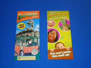 KEY WEST HOP ON HOP OFF TOUR BROCHURE + *BONUS* RIPLEY'S BELIEVE IT OR NOT FLYER