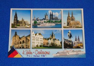 *BRAND NEW* BEAUTIFUL SCENES OF COLOGNE GERMANY POSTCARD UNUSED KOLN RHINE-RUHR