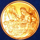 REX ART PAINTING AUTHENTIC NEW ORLEANS MARDI GRAS DOUBLOON COIN TOKEN ARTIST