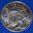 SPACESHIP TRAIN GREAT AGES OF MAN AUTHENTIC NEW ORLEANS MARDI GRAS DOUBLOON COIN