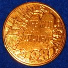 OLD TESTAMENT BIBLE TABLETS AUTHENTIC NEW ORLEANS MARDI GRAS DOUBLOON TOKEN COIN