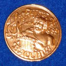 SING ALONG WITH BACCHUS AUTHENTIC NEW ORLEANS MARDI GRAS DOUBLOON COIN TOKEN