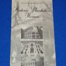 HISTORIC LOUISIANA AND MISSISSIPPI PLANTATION HOMES MAP GUIDE SOUVENIR BROCHURE