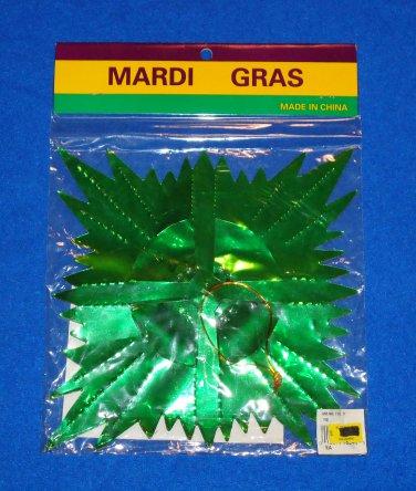 AUTHENTIC NEW ORLEANS MARDI GRAS DECORATION GARLAND FOIL PURPLE GREEN GOLD
