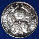 WORLD'S FAIR HOT AIR BALLOON ASIAN MEXICAN MULTI CULTURAL MARDI GRAS DOUBLOON
