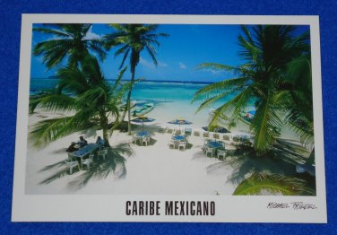 GORGEOUS UNUSED CARIBE MEXICANO POSTCARD YUCATAN PENINSULA MAHAHUAL COSTA MAYA