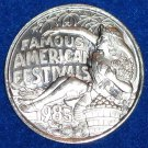 FAMOUS AMERICAN FESTIVALS NEW ORLEANS MARDI GRAS DOUBLOON BEAUTY QUEEN FLOWERS