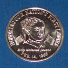 FIRST LADY ELIZA JOHNSON AUTHENTIC NEW ORLEANS MARDI GRAS DOUBLOON TOKEN COIN