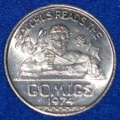 BACCHUS READS THE COMICS NOLA MARDI GRAS DOUBLOON MICKEY MOUSE BUGS BUNNY BATMAN