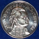THOMAS JEFFERSON AUTHENTIC NEW ORLEANS MARDI GRAS DOUBLOON JEFFERSON PARISH