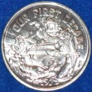 OUR FIRST DECADE NEW ORLEANS MARDI GRAS DOUBLOON TOKEN TAJ MAHAL SEAL CLOWN SHIP