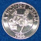 RARE UNIQUE SHOPPER'S DREAM AUTHENTIC NEW ORLEANS MARDI GRAS DOUBLOON TOKEN COIN