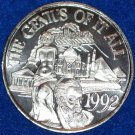 GENIUS OF IT ALL NEW ORLEANS MARDI GRAS DOUBLOON VENUS DE MILO TAJ MAHAL PYRAMID