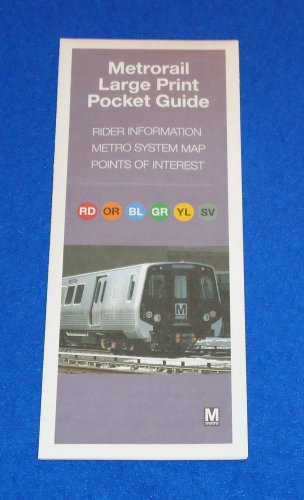*BRAND NEW* WASHINGTON D.C. METRORAIL LARGE PRINT POCKET GUIDE METRO SYSTEM MAP