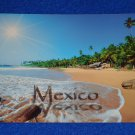 ***BRAND NEW*** EXTRAORDINARY UNUSED MEXICO BEACH POSTCARD SHORELINE PALM TREES