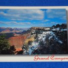 VINTAGE UNUSED STAGGERING GRAND CANYON MATHER POINT POSTCARD EARLY SPRING SNOW