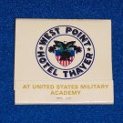 HOTEL THAYER WEST POINT MATCHBOOK US MILITARY ACADEMY ARMY HUDSON RIVER UNUSED